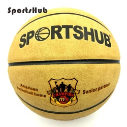 SPORTSHUB Size7 جلد طبيعي داخلي وخارجي مضاد للانزلاق الرياضة كرة السلة الكرة المضادة للاحتكاك كرة السلة 2-Colors BGS0001