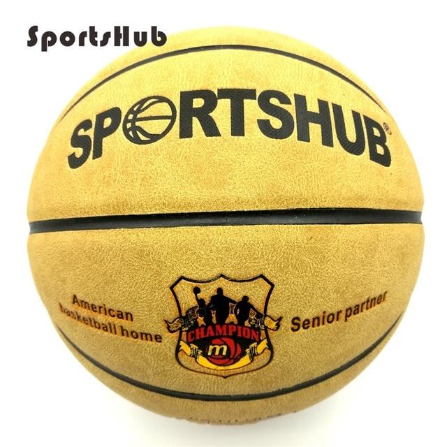 SPORTSHUB Size7 Echtem Leder Indoor & Outdoor Anti slip Sport Basketball Ball Anti reibung Basketball 2 Farben BGS0001