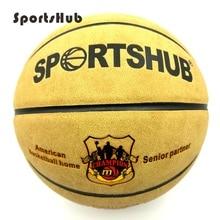 Sportshub size7 couro genuíno indoor & outdoor anti deslizamento esportes bola de basquete anti fricção basquete 2 colors bgs0001