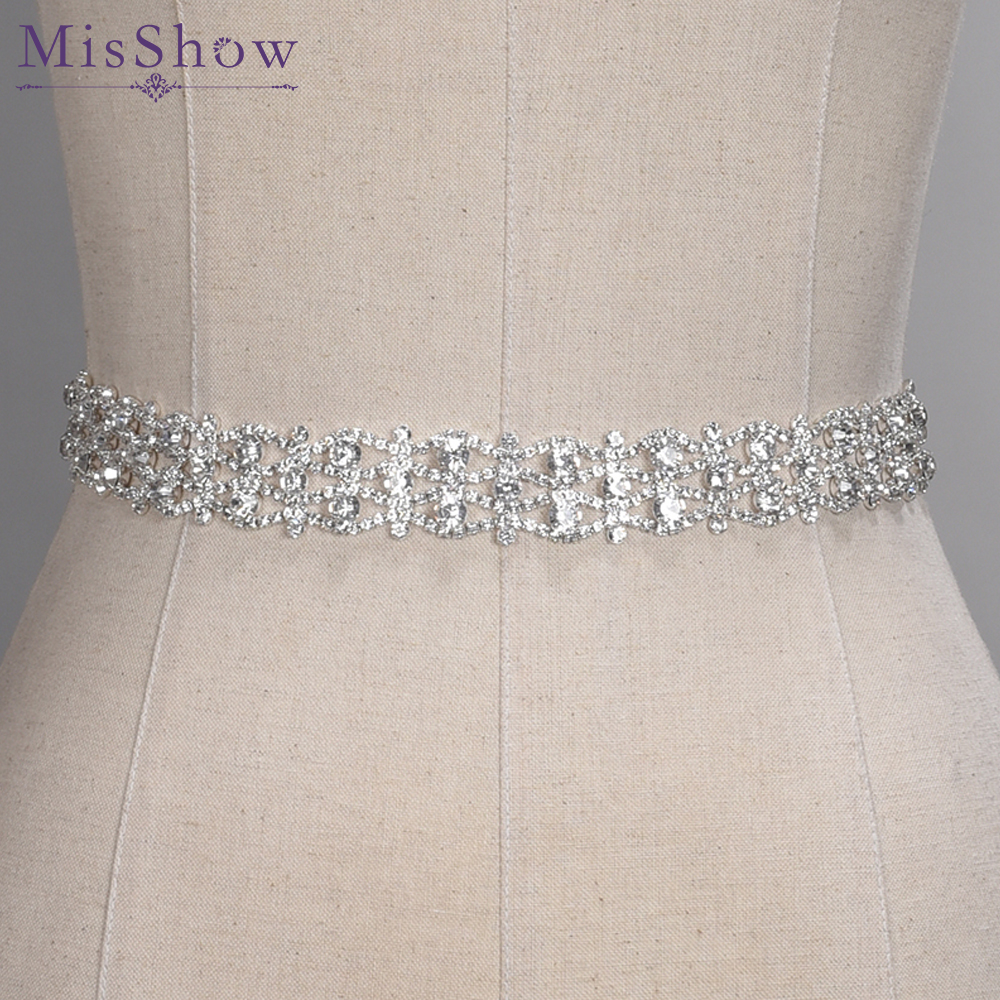 Crystal Wedding Belts Real Samples Hand Made Satin Rhinestones Bridal Ribbons Sashes Wedding Accessories Cummerbunds Waistband