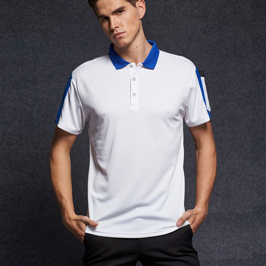 Slim Fit Mens Polo Shirt Fashion Summer Spring Breathable Male Polos