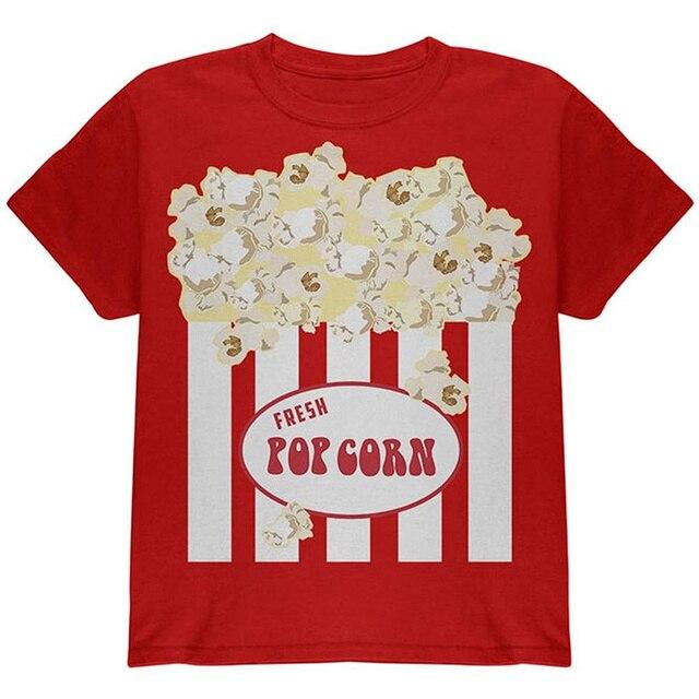 2bd330b2b Create Your Own Shirt Casual Men O-Neck Halloween Popcorn Costume Youth  Short-Sleeve Tee Shirts