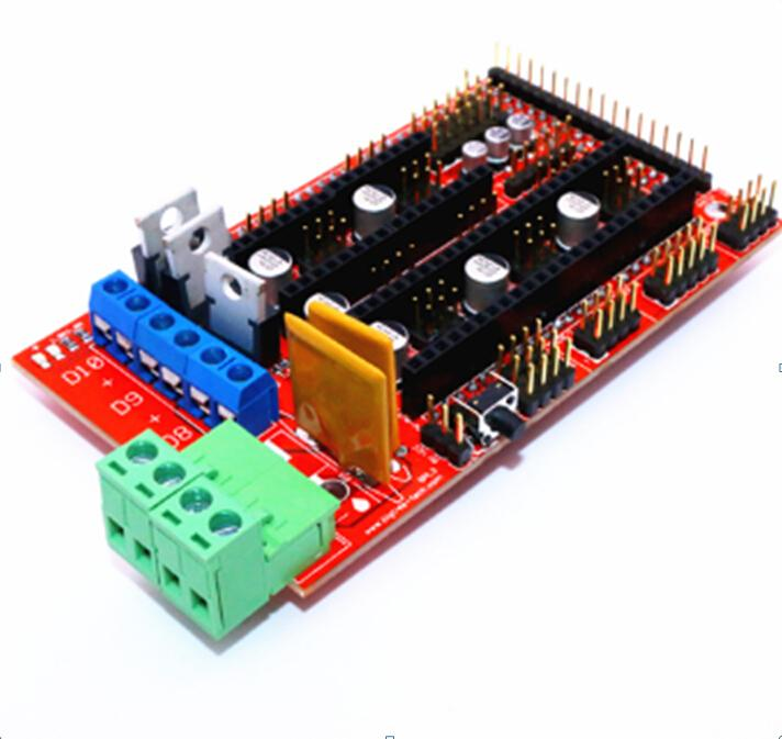 RAMPS 1.4 Control Board Panel Part Motherboard 3D Printers Parts Shield Red Black Controls Ramps1.4 Boards Accessories