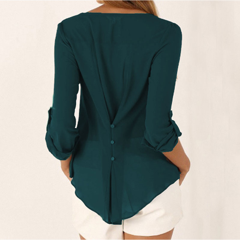 HOT SALE Plus Size Maternity V-neck Chiffon Blouse Summer Fashion Casual Slim Shirts Loose Tops Casual Clothes For Pregnant