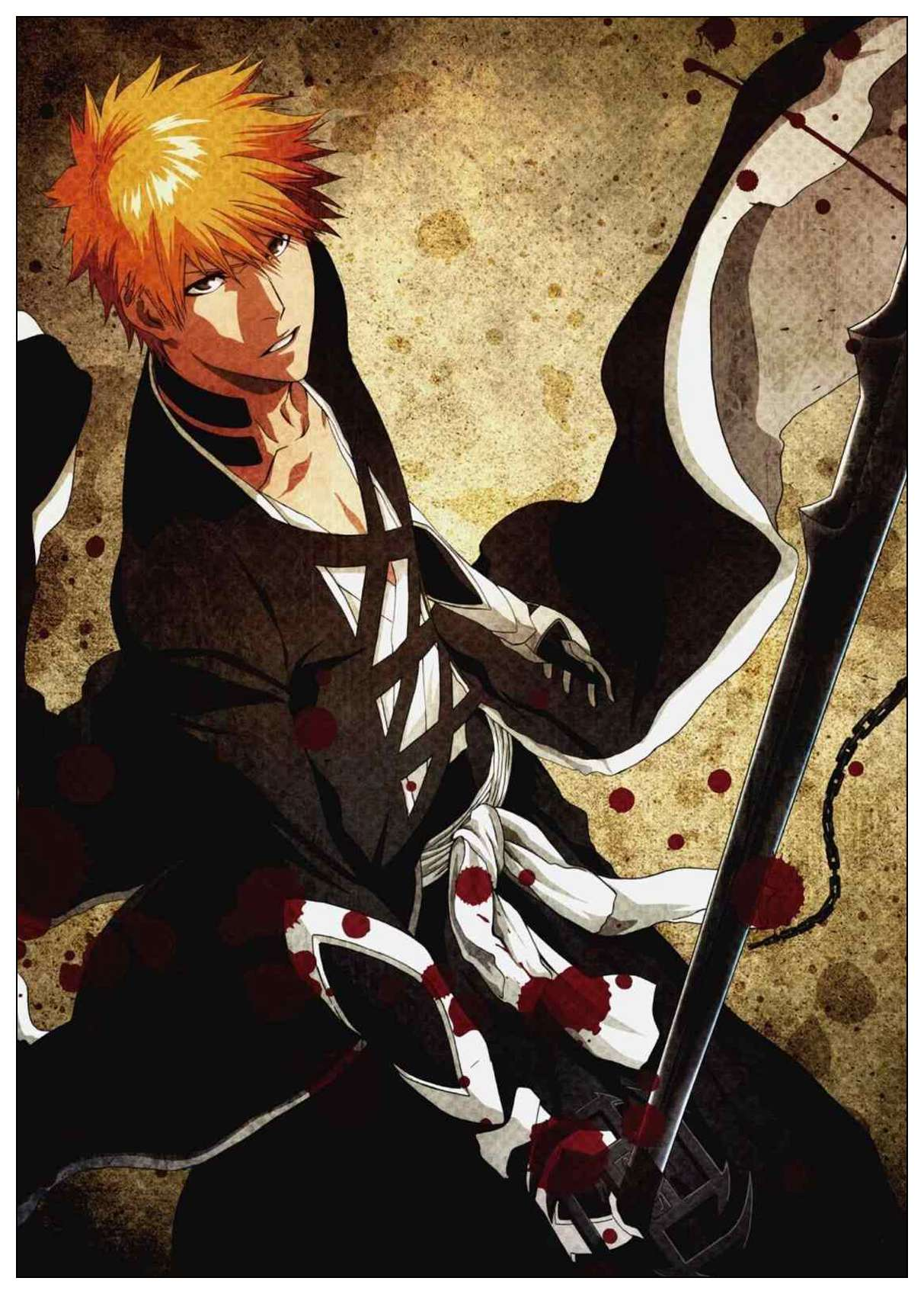Japanese Bleach Painting Coated Poster White Paper Home Bar Wall
