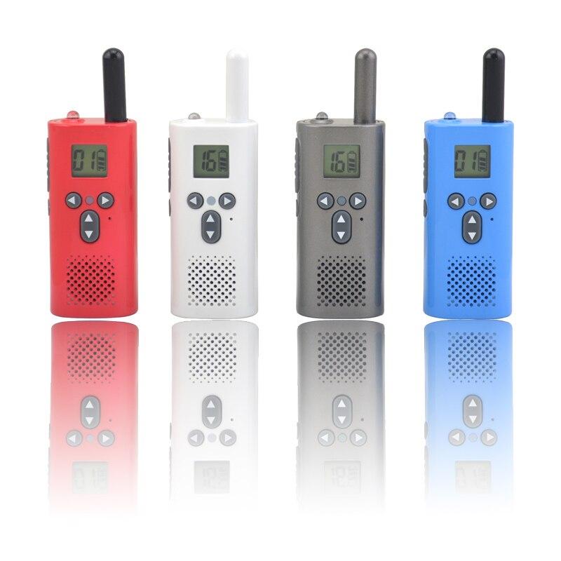 2pcs lot Smallest Mini kids WALKIE TALKIE UHF Two way radio 400 500MHz 16 Programmable Channels