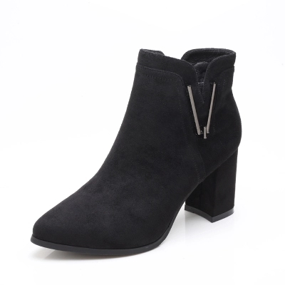 2018 De Vent Chaussures Nouvelles Talons Hiver Automne Bottes Courtes Pointu Femmes Martin Stiletto Hauts 1 Britannique nIxqTYY
