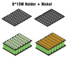 13S8P 48 v E bike Li Ion batterij houder + nikkel strip 8P13S batterijhouder en nikkel 48 v 20Ah 13S8P 18650 batterij houder nikkel