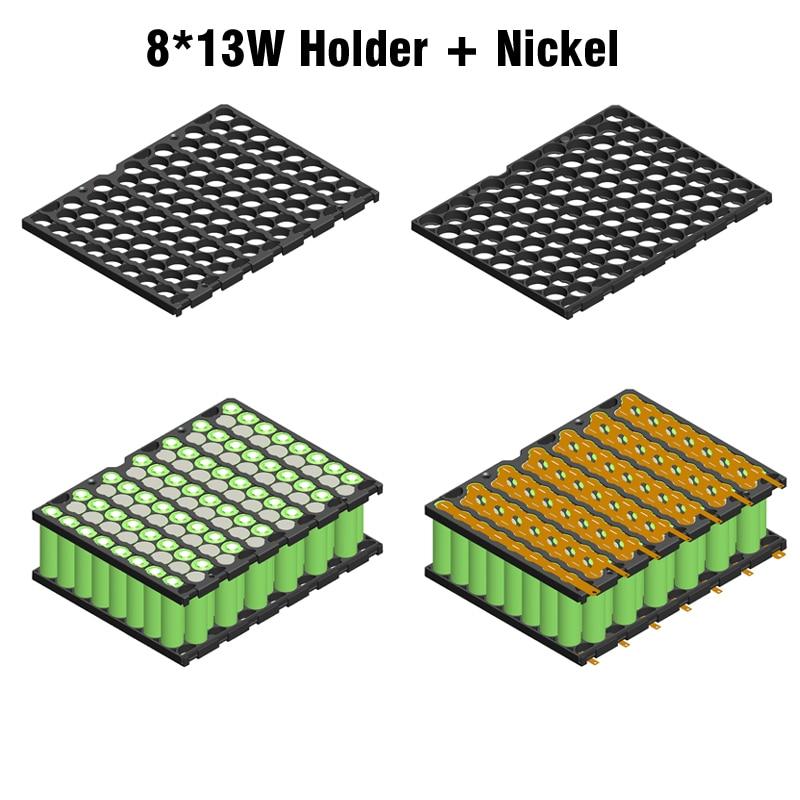 13S8P 48V E-bike Li-ion battery holder + nickel strip 8P13S battery holder and nickel 48V 20Ah 13S8P 18650 battery holder nickel цена