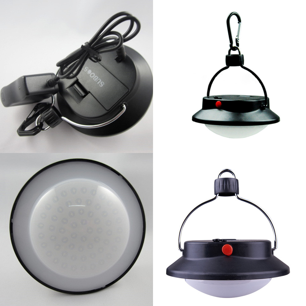 60LED Camping Fishing Outdoor Tent Night Light Lamp #M Lantern +battery +Charger