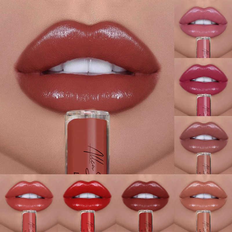 アレンショークリームヌード光沢のある液体リップ釉薬マットグリッターきらめき保湿リップグロス長期的な口紅 TSLM1