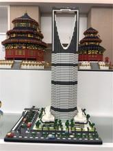 YZ nowy światowej sławy architektura brytania wieża 3D Taibei 101 Model DIY 4692 sztuk Mini budynku diamentowe klocki zabawki dla dzieci