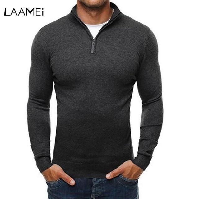 Laamei גברים בסוודרים סוודר גולף סוודר שמלה מזדמן Slim סריגה סוודרים סרוג למשוך Homme Sueter Hombre