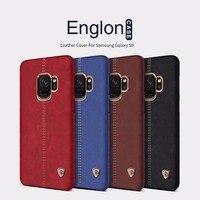Bìa Đối Với Samsung Galaxy s9 cộng với s9 + NILLKIN Englon Loạt thanh lịch Cổ Điển Leather Case Cho Samsung Galaxy s9 s9plus Điện Thoại trường hợp