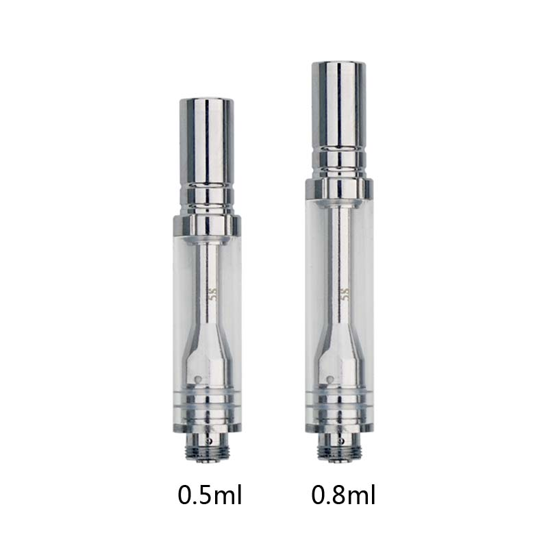 20Pcs A1 Clearomizer Electronic Cigarette 0.5Ml 0.8Ml Pyrex Glass Tank Oil Vapor For 5S Vv Vape Mod Vaporizer 510 Ego Thread Mod