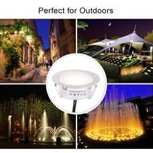 IP67 8PCS Recessed LED Deck Light Underground Lamp Outdoor Landscape Lighting for Stair Patio Garden Floor Corner Sauna Bathroom