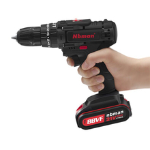 21v  Max Lithium-Ion Battery 35N.m 2-Speed Electric Cordless Drill Mini Drill Screwdriver Wireless Power Driver with LED light 28v max electric screwdriver cordless drill mini wireless power driver dc lithium ion battery with 2 lithium battery