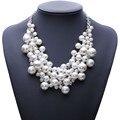 2017 de la moda de moda collar de perlas de joyería de perlas de imitación de vestuario cadena colgante de moda choker collares declaración de las mujeres