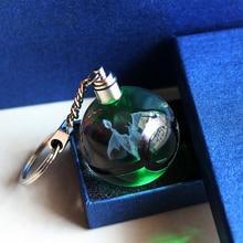 Горячая игра Чаризард мяч 3D лазерный брелок Кристалл светодиодный Покемон мяч фигурки монстр