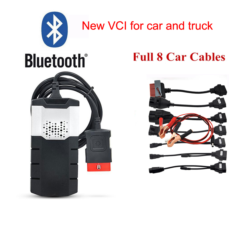 US $28 37 29% OFF|2019 NEW VCI obd2 scanner tcs for delphi ds150e 2016R0  keygen bluetooth for autocome cdp pro diagnostic tools +8 pcs car cable-in