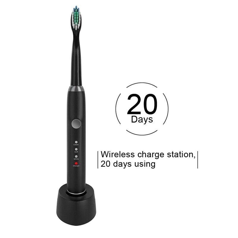 Купить беспроводная ультразвуковая электрическая зубная щетка с 2 насадками