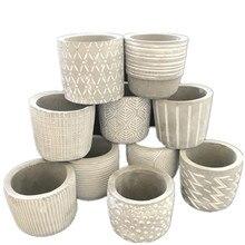 DIY креативный силиконовый горшок для растений, маленький цемент ручной работы, глина, цветочный горшок, форма для украшения дома, рабочего стола