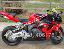Hot Sales,Full Fairing For Honda CBR1000RR 2006 2007 CBR 1000 RR 06 07 Fairing Red Black Motorcycle Parts (Injection molding)