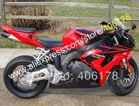Hot Sales,Full Fairing For Honda CBR1000RR 2006 2007 CBR 1000 RR 06 07 Fairing Red Black Motorcycle Parts (Injection molding)