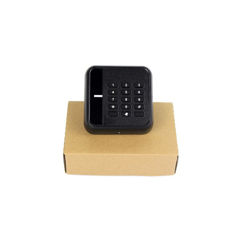 DWE CC RF black keyboard readers wiegand 26 34 chip card 125khz rfid reader for door access control dwe cc rf door access 12v rfid proximity card readers 13 56mhz wiegand ic chip reader with keyfob