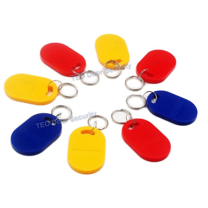 50Pcs RFID Keyfob 125Khz Proximity Key Fobs Chain RFID Tag Manufacturers for Construction use rf id Tag EM 4100/4102 Keychains