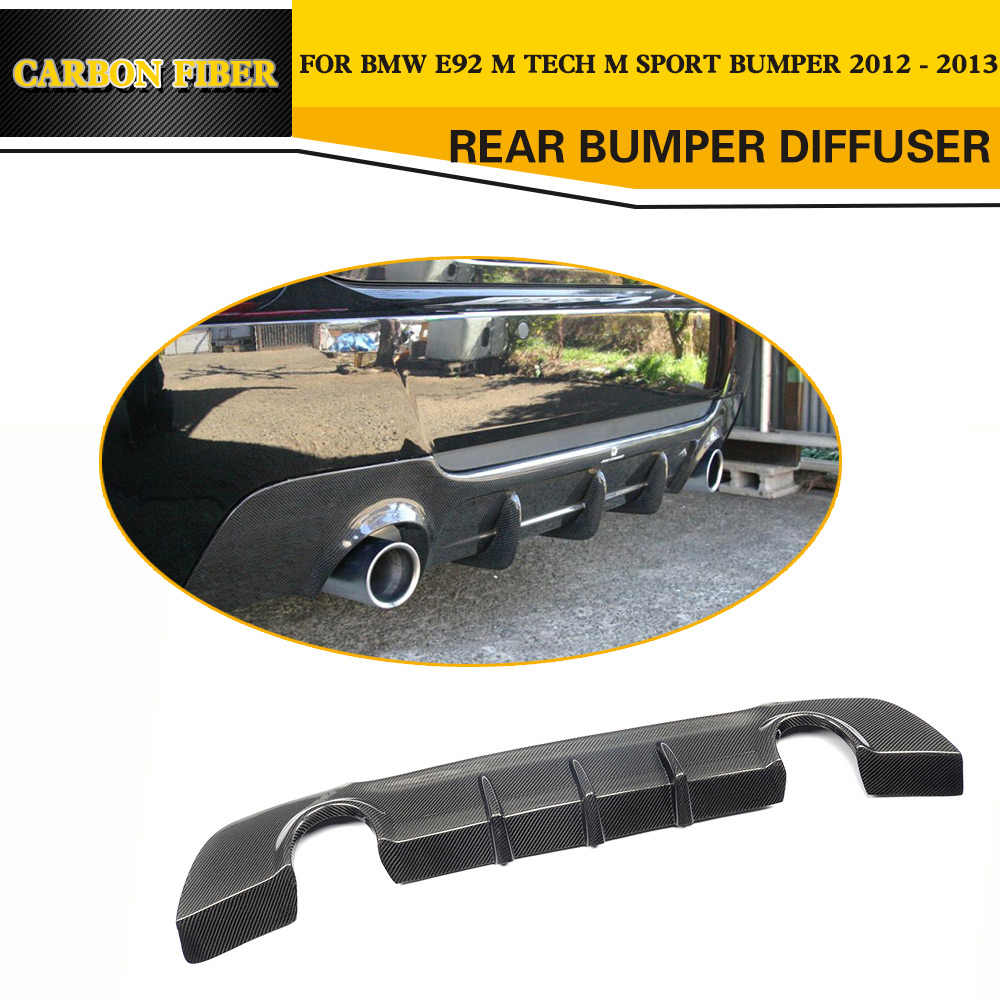 3 Series Carbon Fiber Rear Diffuser Lip Spoiler For BMW E92 Coupe E93  Convertible M Sport Only 2005   2011 328i Car Styling