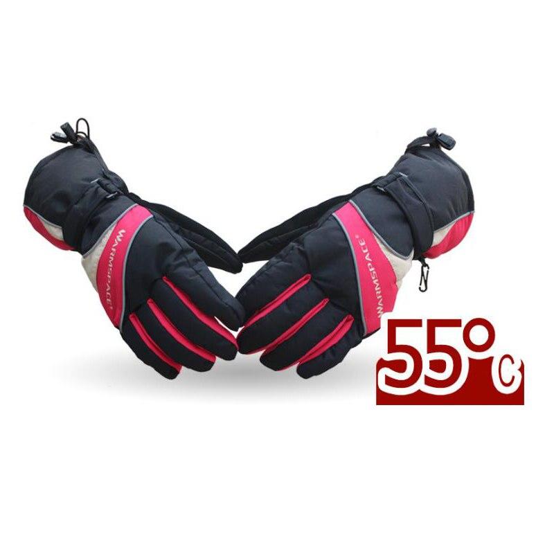 Gants chauffants d'hiver USB chauffe-main électrique gants thermiques imperméables gants chauffants à piles pour moto Ski
