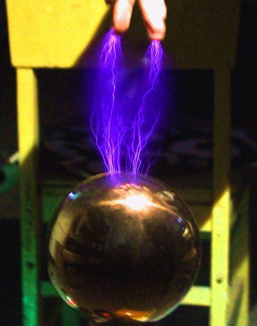 Funken lücke tesla draht falle stück diy technologie zu produzieren drahtlose übertragung licht arc arc spray arc