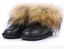 2016 детские зимние ботинки для девочек лисицы снега сапоги мальчик зимняя обувь кожаные водонепроницаемые теплые детская обувь резиновые сапоги дети