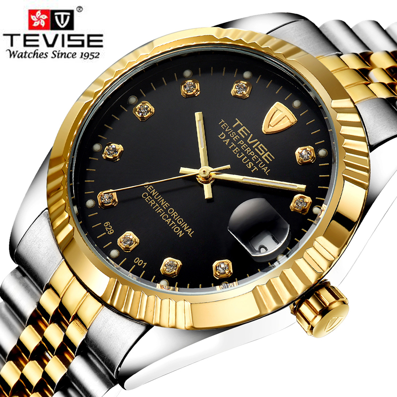 TEVISE Top Brand Luxury Waterproof Automatic Watch Men Mechanical Watch Luminous Sport Casual Watch Relogio Masculino Watches unique smooth case pocket watch mechanical automatic watches with pendant chain necklace men women gift relogio de bolso