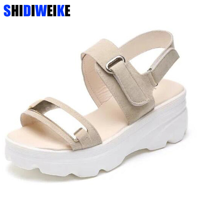 3aad87199395fa Hot Summer Women Sandals Fashion Superior Quality Comfortable Wedges Women  Sandals For Lady Shoes High Platform Black Beige Shoe