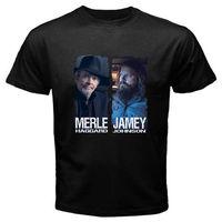 Nowy Merle Mizerny & Country Music Jamey Johnson męska Czarna Koszulka S do 3XL Młodzieży Okrągły Collar Dostosowane T-shirty