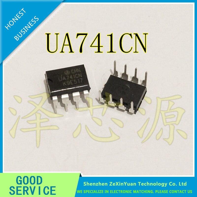 20PCS/LOT UA741CN UA741CP UA741 LM741 741 DIP-8 NEW