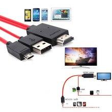 Transformar 11pin hdmi linha HD micro usb vez hdmi conversor para Samsung S5/S4/S3 telefone móvel