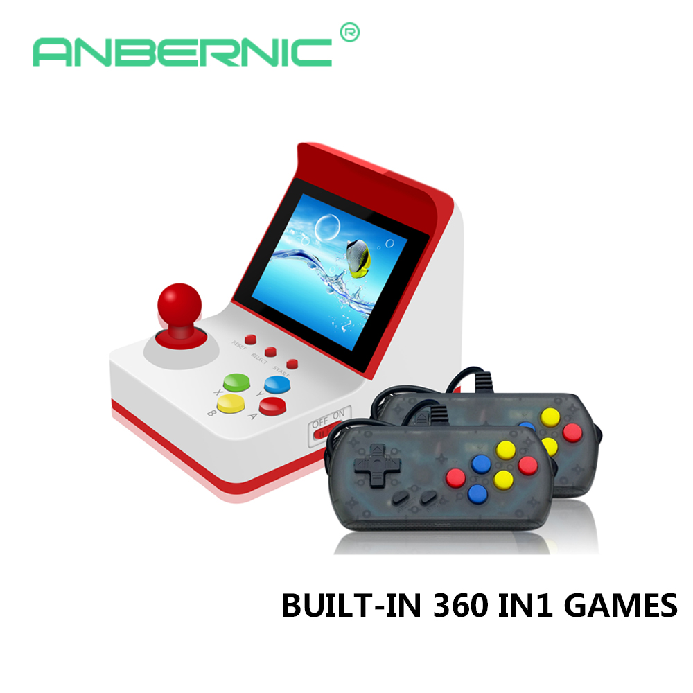 Mini Retro Arcade Handheld Video Game Console 3Inch 8 bit 360 Games classical Family Gift arcade joystick stick