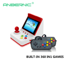 Mini Retro Arcade Retro Mini Handheld Video Game Console 3Inch 8 bit 360 Video Games classical Family Gift arcade joystick stick