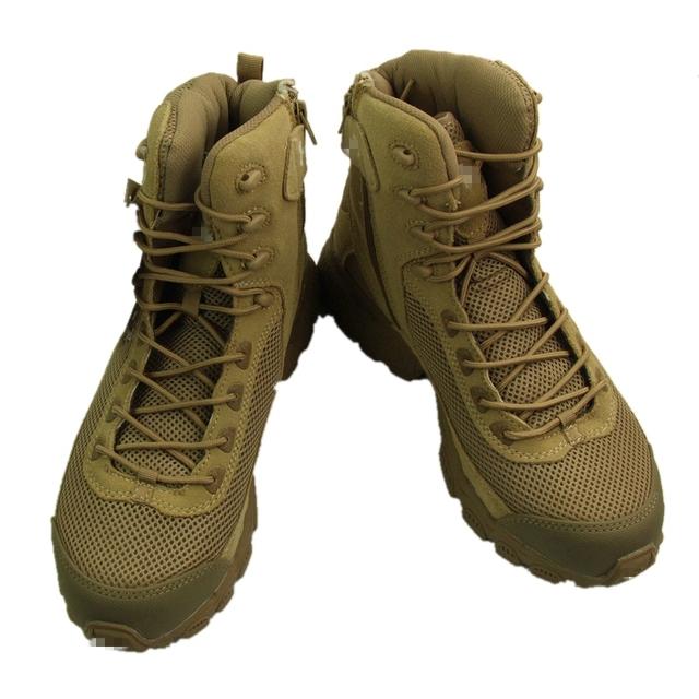 2017 Nueva Venta de Botas de Combate de Los Hombres Impermeables Transpirables Militares Botas Tácticas Tan Color