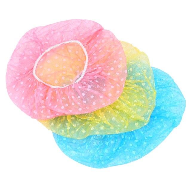 3 Шт./лот Милые Женщины Леди Водонепроницаемый Эластичный Пластик Душ Купание Красоты Волос Cap Hat