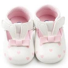 Новорожденных PU милый кролик для маленькой принцессы мокасины для маленьких девочек малышей обувь первые ходоки Sapato Zapatos Chaussure Bebe Fille