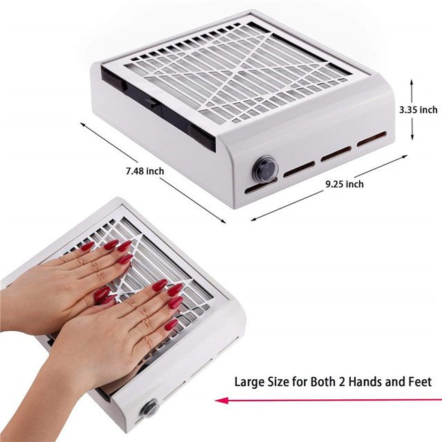 Nail Suction Dust Extractor Fan Collector 40w Strong Art Salon