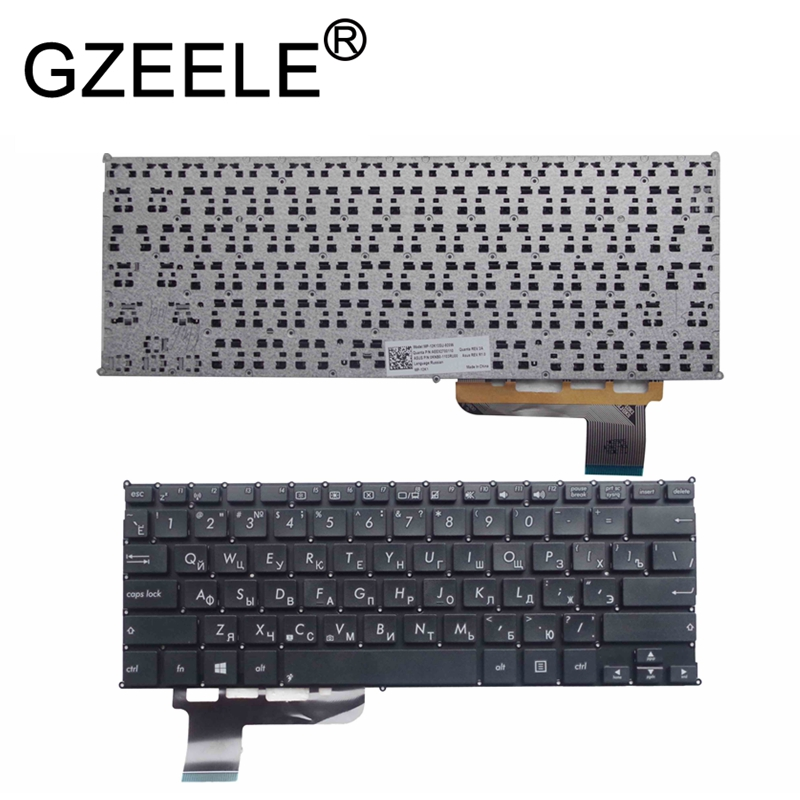 GZEELE New RU Laptop Keyboard For Asus VivoBook Q200 Q200E S200 S200E X200 X201 X201E X202e Russian Layout Black Or White