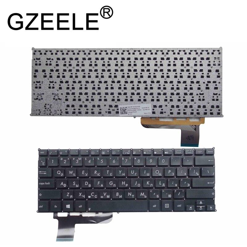 GZEELE New RU teclado do portátil para Asus VivoBook Q200 Q200E S200 S200E X200 X201 X201E x202e russo layout preto ou branco
