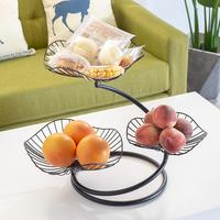 Nordic Style Fruit Basket Three layer Metal Countertop Fruit Snack Storage Rack Kitchen Vegetable Basket for Living Room 20E