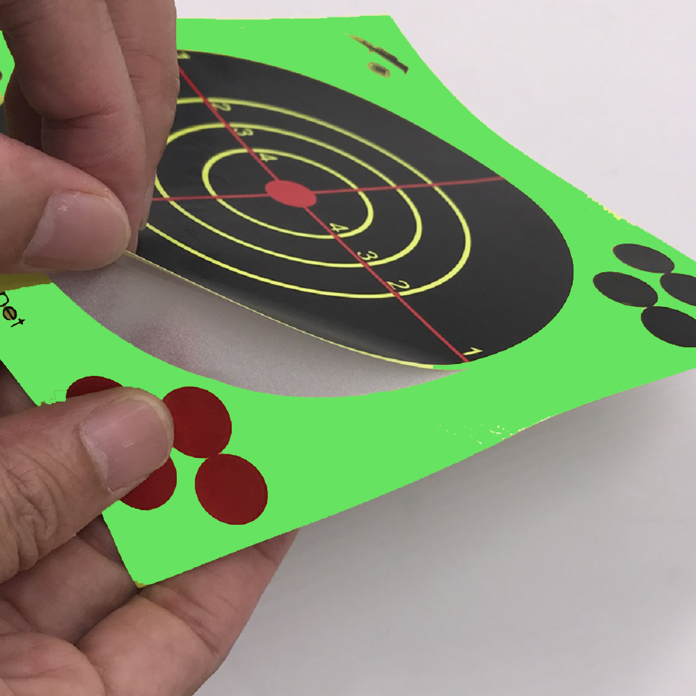 Image 2 - Target Shooting 14 X 14CM Splash Flower Target 5.5 Inch Adhesive Reactivity Shoot Target Aim for Gun / Rifle / Pistol Binders-in Paintball Accessories from Sports & Entertainment