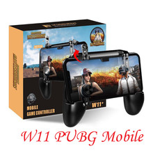 W11 + PUBG Mobiele Gamepad Joystick Metalen L1 R1 Trigger Game Shooter Controller  for iPhone Android phone  Gaming Gamepad
